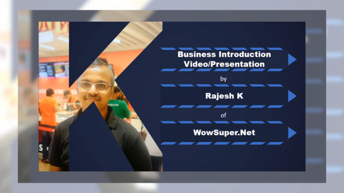 business intro video - record yourself talking to viewers